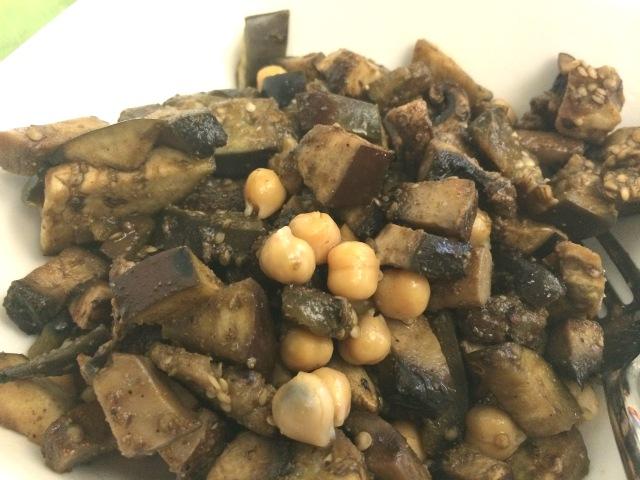 Eggplant and Mushroom Saute